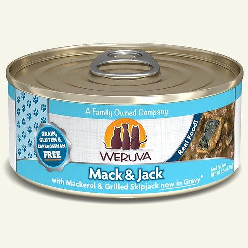 Weruva Mack & Jack - Mackerel and Grilled Skipjack in Gravy Cat Food