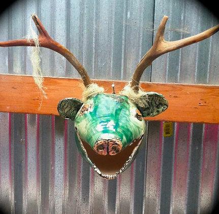 Green Deer Head