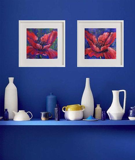 Poppies. Flowers. Painting by Natalia Rumyantseva