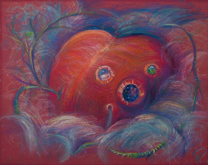 Heart in Love. Digital Art. Romantic Painting