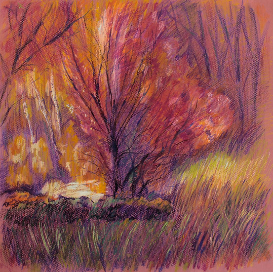 """The Love Tree"". Tree. Landscape. Original painting. 50x65 cm"