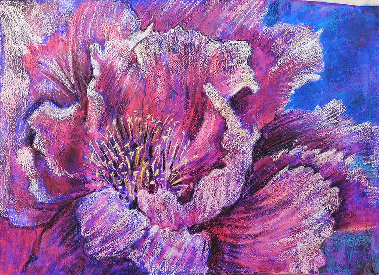 "Flower.""Light feelings"". Floral. Botanical . Painting by Natalia Rumyantseva"