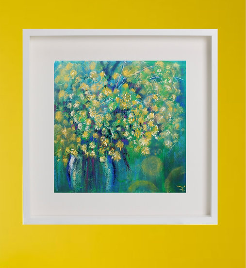 Mimosа. Yellow Flowers. Painting by Natalia Rumyantseva