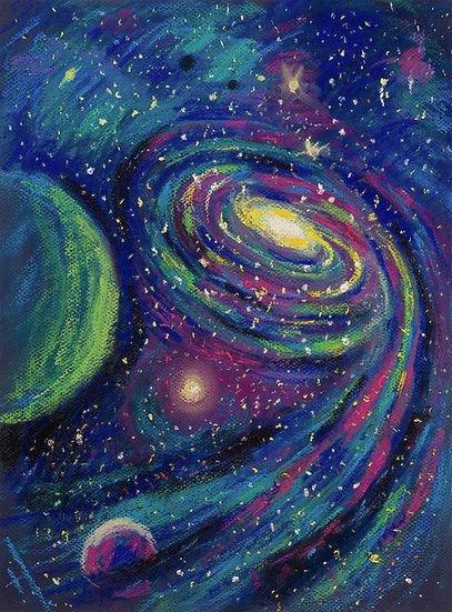 Galaxy Painting. Digital Art