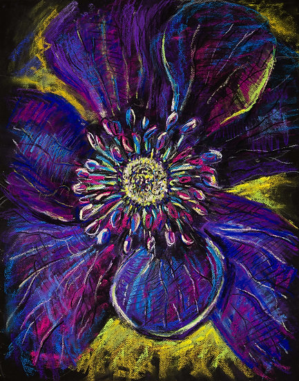 Flower. Purple Dream. Floral. Botanical . Painting by Natalia Rumyantseva