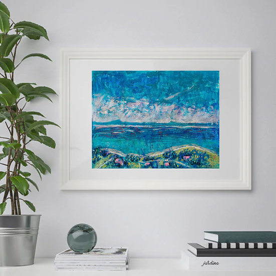 Sea. Landscape. Calm and serenity. Painting by Natalia Rumyantseva