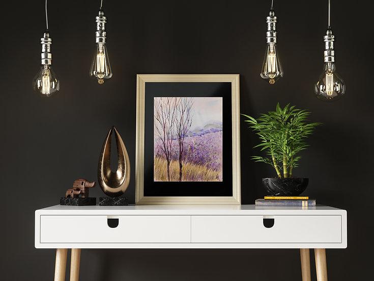ROMANTICS. Tree. Original painting.