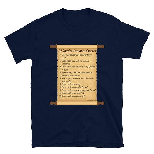 The 10 Spades Commandments Italic TableTop Tee