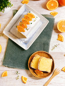 Orange blossom pound cake
