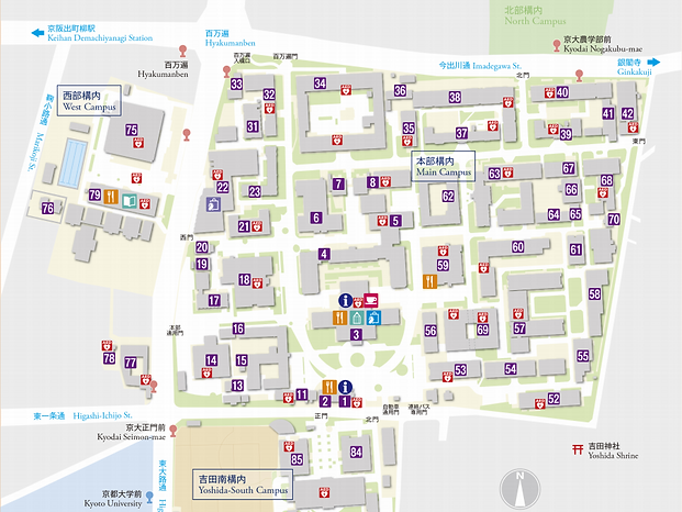 京大構内マップ
