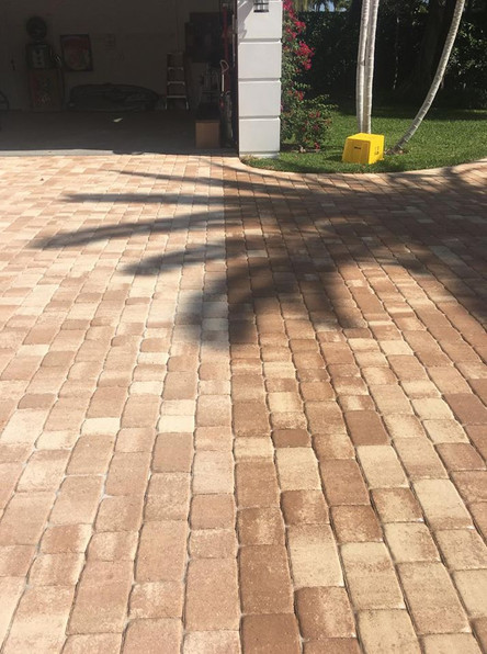 paver before & after