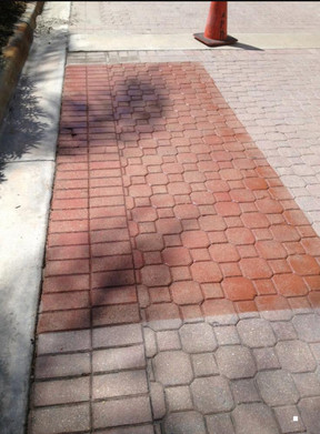 tinted sealer on faded bricks