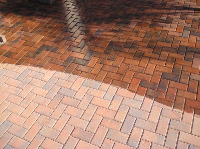 pavers before & after