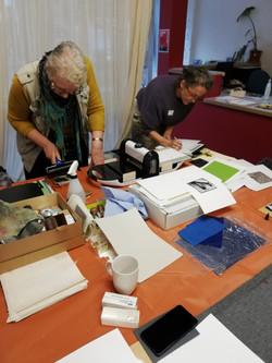 Lino cut printing workshop
