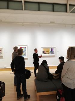 Neil Walker discussing exhibition