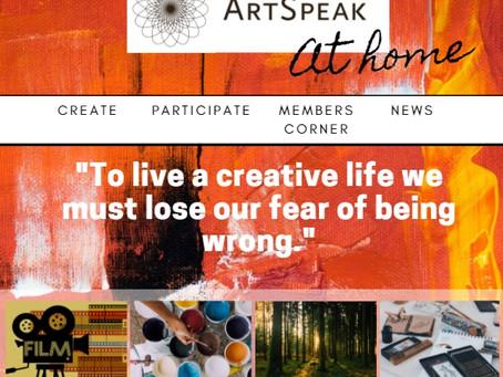 February edition of ArtSpeak at Home