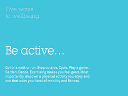 Five ways to wellbeing - Be Active