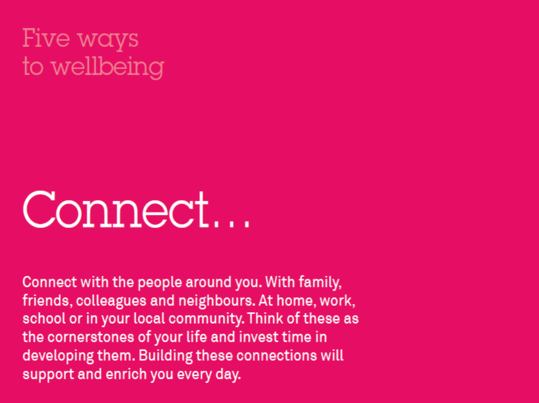 Five ways to wellbeing - Connect