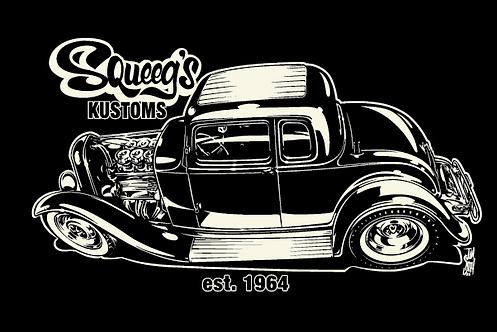 32 5-Window Coupe Black T-Shirt