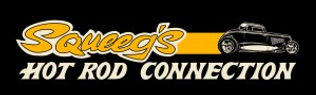Squeeg's Hot Rod Connection Yellow 34 Ford Coupe Logo