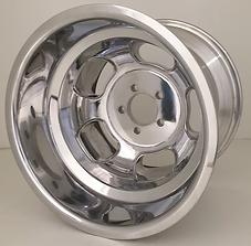 """Squeeg's Kustoms Hot Rod Connection Champ 16"""" x 13"""" Wheel. Polished."""