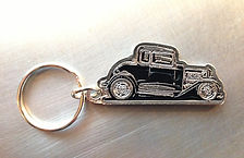 Squeeg's Hot Rod Connection Jimmy Smith '32 Ford 5 Window Coupe pewter key chain