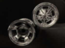 """Squeeg's Hot Rod Connection 14"""" Aluminum I beam steering wheels"""