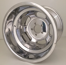 "Squeeg's Kustoms Hot Rod Connection Champ 16"" x 11"" Wheel. Polished."