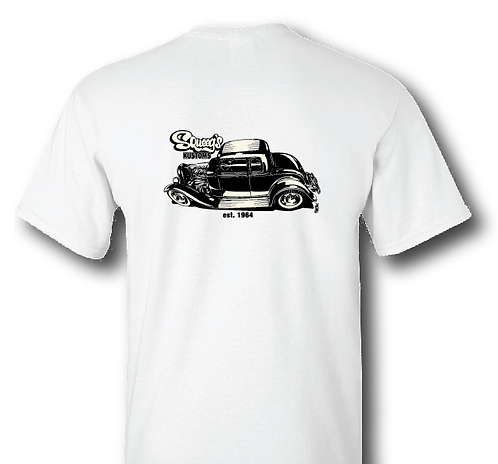 32 5-Window Coupe White T-Shirt