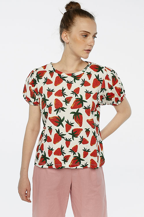 Camiseta estampado fresas