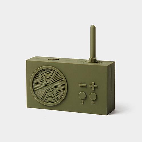 Tykho 3 Radio y altavoz Bluetooth - verde kaki