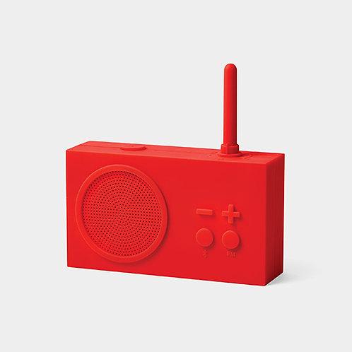 Tykho 3 Radio y altavoz Bluetooth -rojo