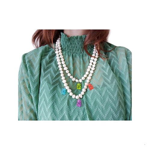 Collar perlas naturales multicolor