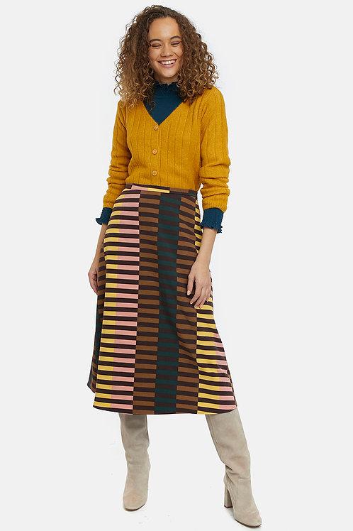 Falda rayas multicolor