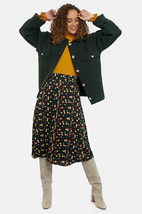 Falda plisada lunares multicolor