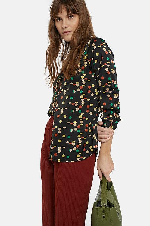 Blusa lunares multicolor