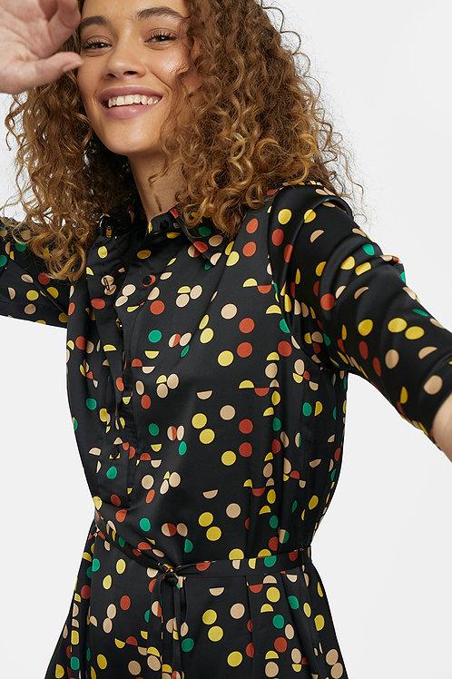Vestido lunares multicolor
