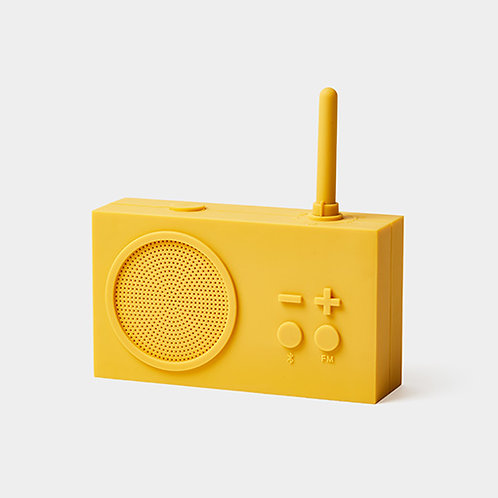 Tykho 3 Radio y altavoz Bluetooth -amarillo