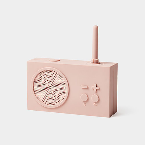 Tykho 3 Radio y altavoz Bluetooth -rosa
