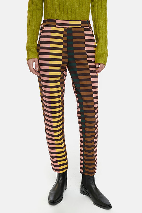 Pantalon rayas multicolor