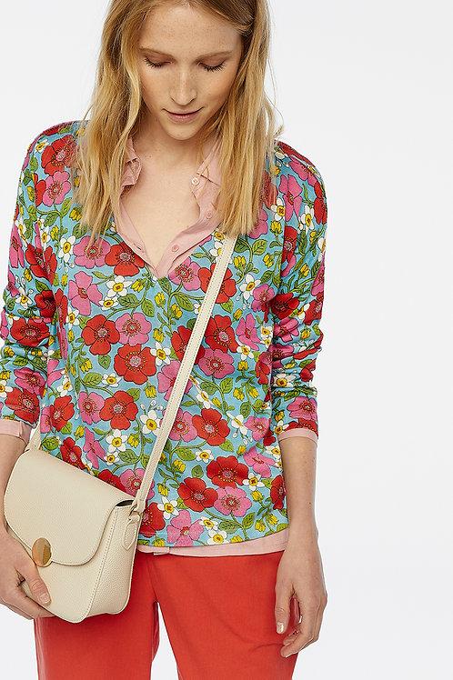 Jersey pico flores multicolor