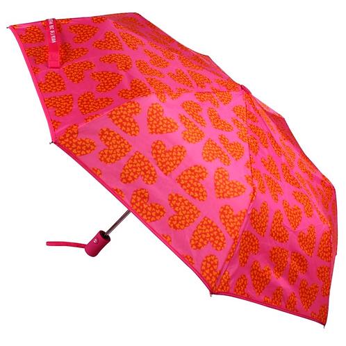 Paraguas plegable corazones