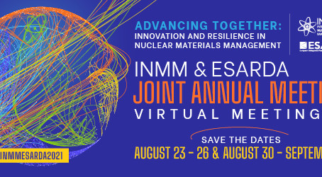 INMM/ESARDA 2021 Joint Annual Meetingで発表しました