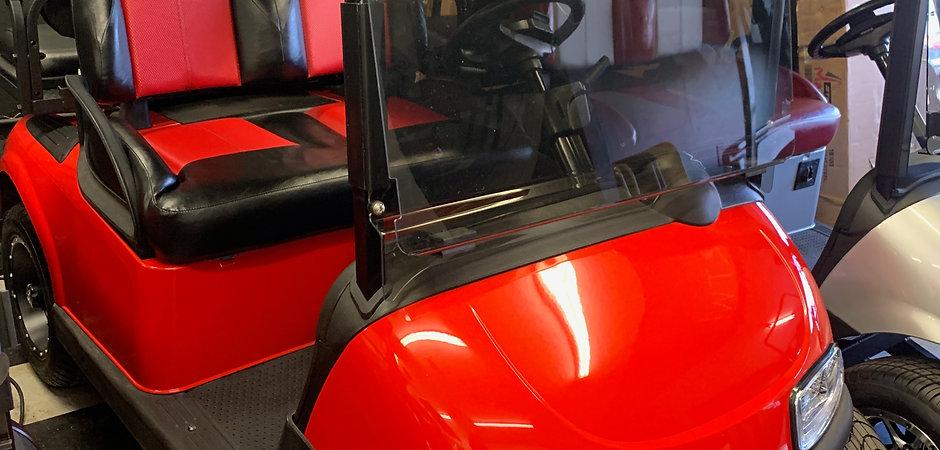 Custom A/C Drive EZGO RXV Red/Black - Li