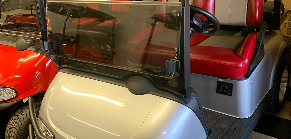 Custom A/C Drive EZGO RXV Silver/Red