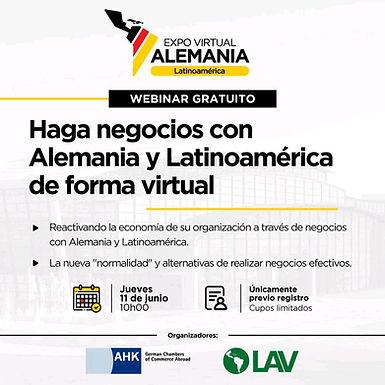 Haga negocios con Alemania y Latinoamérica de manera virtual