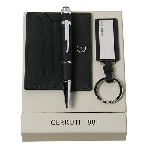 Kit chaveiro, porta cartões e caneta - CERRUTI 1881