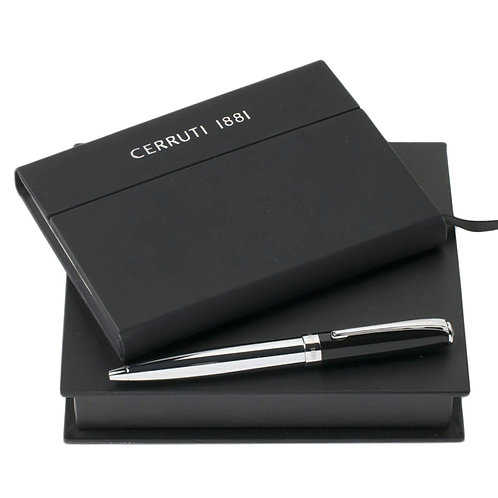 Kit de caderno e caneta metal - CERRUTI 1881