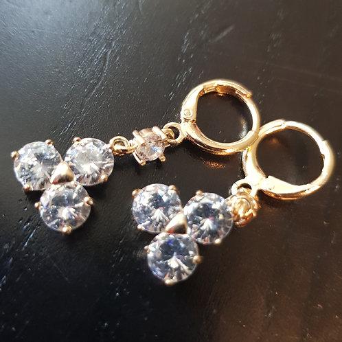 Øreringe med 3 sten