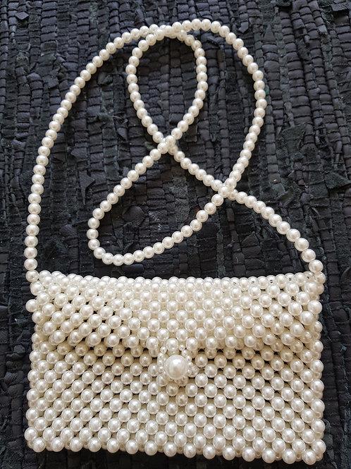 Rektangulær perle taske